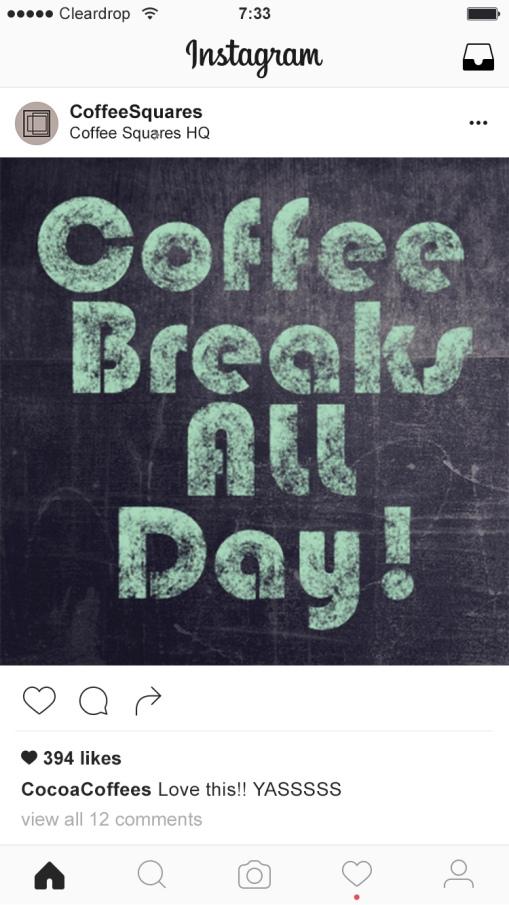Coffee Breaks Instagram Feed