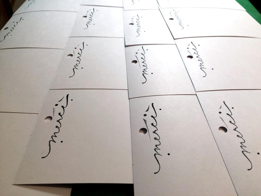 Earring packaging stamping in-progress