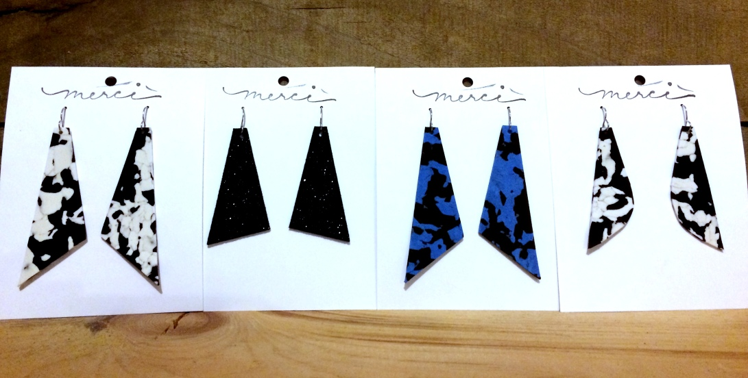 DIY Earring Packaging with Jewelry Shown
